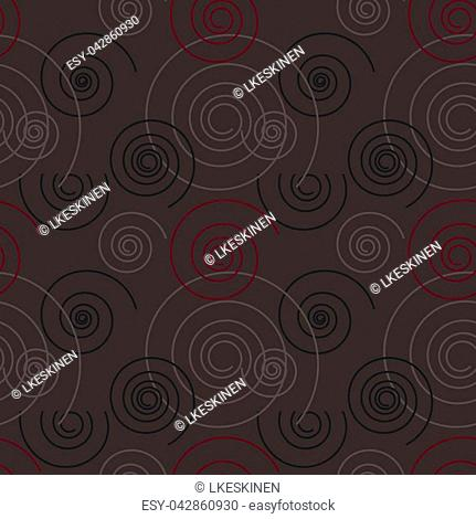 Dancing swirl seamless pattern. For print, fashion design, wrapping wallpaper