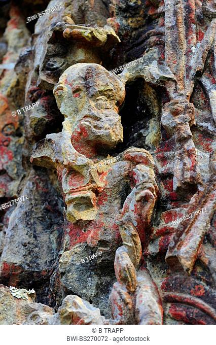 sculpture of Mayan Indian in Copan, Honduras, Copan