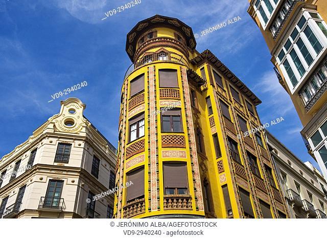 Historic building, Malaga city, Costa del Sol, Andalusia southern Spain, Europe