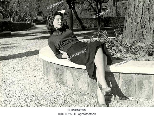 A young Italian actress posing for a photo shoot
