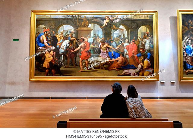 France, Rhone, Lyon, historical site listed as World Heritage by UNESCO, Palais Saint Pierre, Musee des Beaux Arts (Fine Art Museum)t