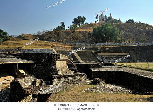 Archaeological excavation site of the Pyramid of Cholula, on the ruins of the Roman Catholic church of Iglesia Nuestra Senora de los Remedios, San Pedro Cholula