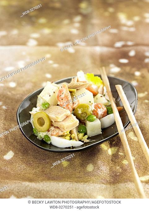 ensaladilla de atun y verduras