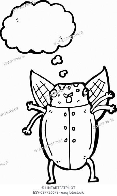 cartoon old man beetle