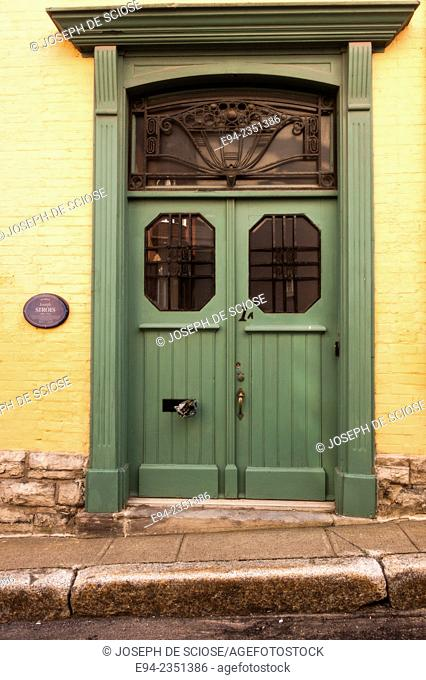 A beautiful doorway in an old house, Quebec City, Canada