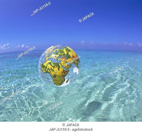 Water and plastic globe