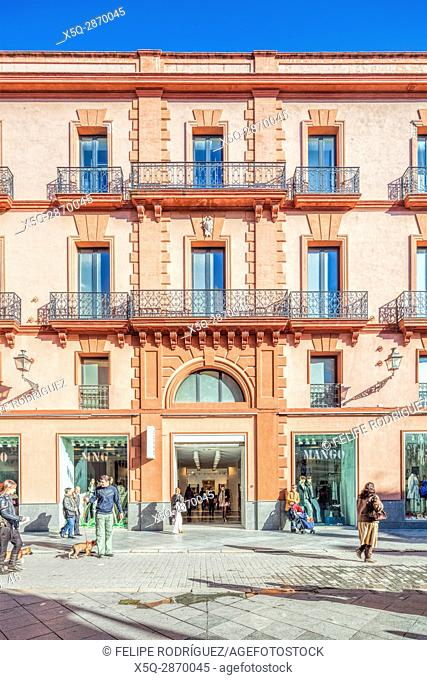 Palacio Central building, formerly cinema theatre and nowadays a fashion store. Seville, Spain