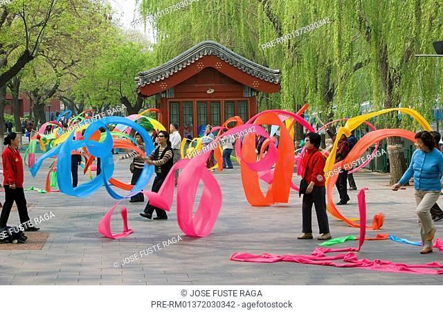 Dancing People, Beihai Park, Beijing, China, Asia