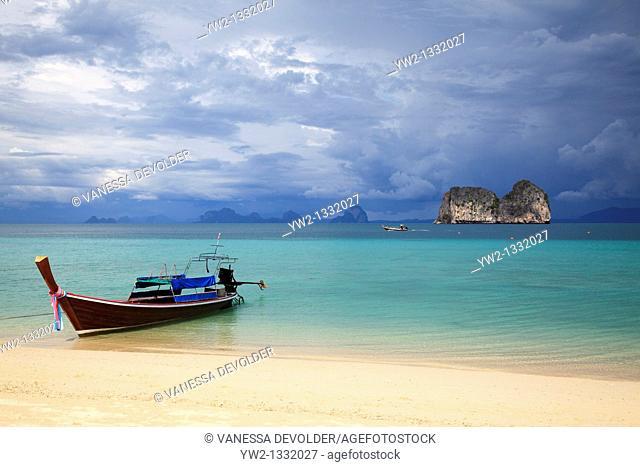 Longtail boat at Ko Ngai, Thailand. November 2010