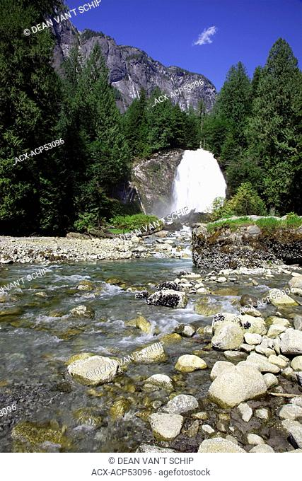 Chatterbox Falls, Summer, Princess Louisa Marine Provincial Park, Sunshine Coast, B.C., Canada