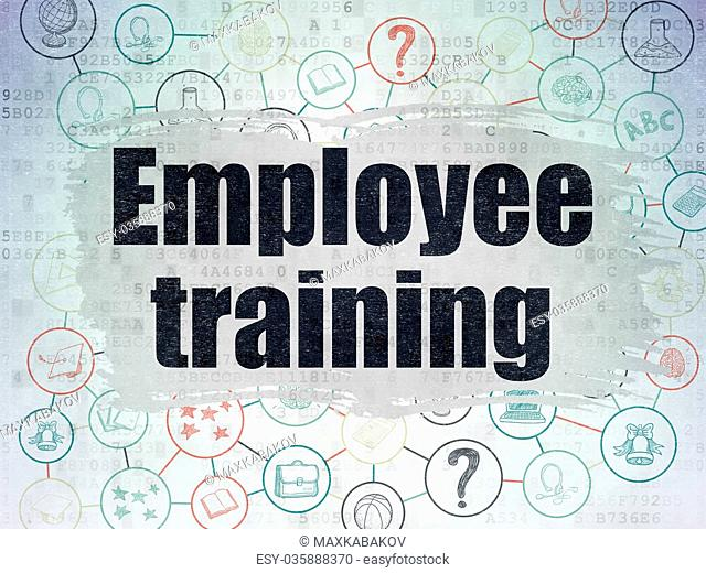 Studying concept: Employee Training on Digital Data Paper background