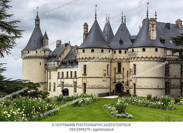The beautiful Château de Chaumont-sur-Loire (Chaumont Castle) in the Loire Valley, Loir-et-Cher, France, Europe