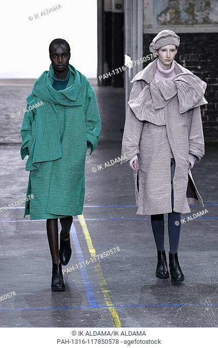 Issey Miyake runway show during Paris Fashion Week, AW19, Autumn Winter 2019 collection - Paris, France 01/03/2019   usage worldwide. - Paris/France