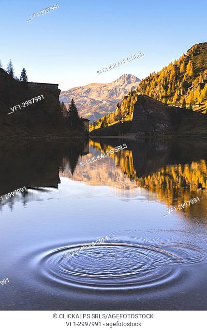 Gleno dam in Scalve Valley, Lombardy, Bergamo province, Italy