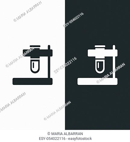 Test tube icon. Isolated image. Flat pharmacy and laboratory vector illustration