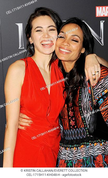 Jessica Henwick, Rosario Dawson at arrivals for NETFLIX Presents MARVEL'S IRON FIST Series Premiere, AMC Loews Lincoln Square 13, New York, NY March 15, 2017