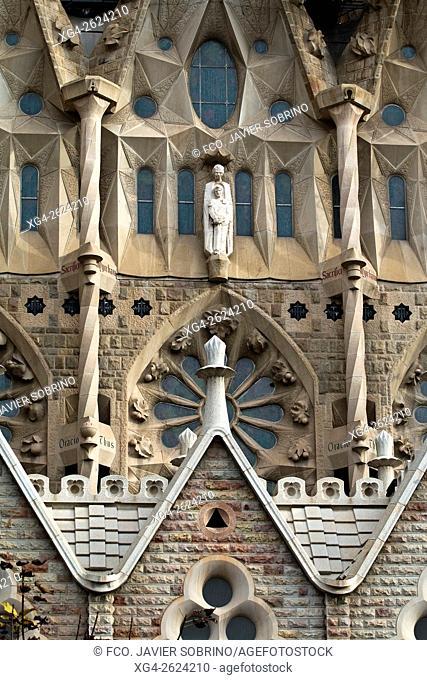 Templo de la Sagrada Familia, Barcelona, Catalonia, Spain