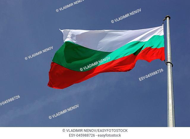 Bulgarian Flag High In Heaven