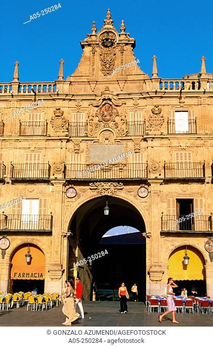 'Plaza Mayor'in Salamanca. Castilla y Leon. Spain