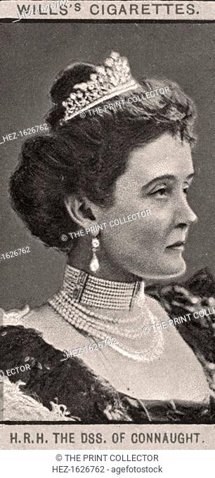 The Duchess of Connaught, 1908. Princess Louise Margaret of Prussia (1860-1917) became Duchess of Connaught and Strathearn when she married Queen Victoria's son