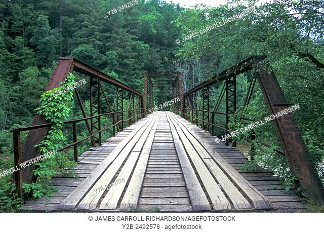 Burnt Mill Bridge at the Big South Fork of the Cumberland River in Kentucky