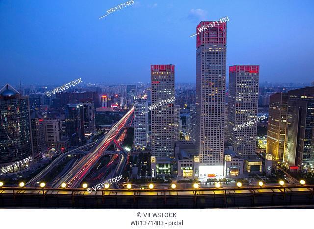 Beijing city building night