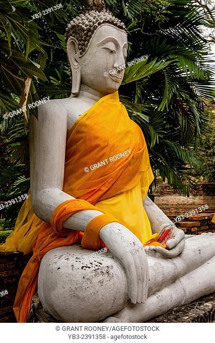 Buddhist Statue At Wat Yai Chaya Mongkol, Ayutthaya, Thailand