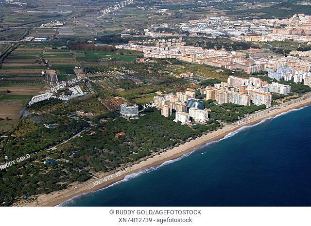 Spain, Catalonia, Girona, La Selva, Costa Brava, Blanes, platja de s'Abanell