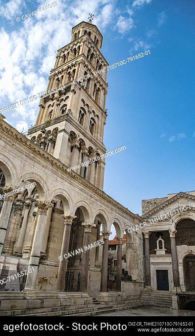 the ancient Roman ruins Diocletian's Palace in Split