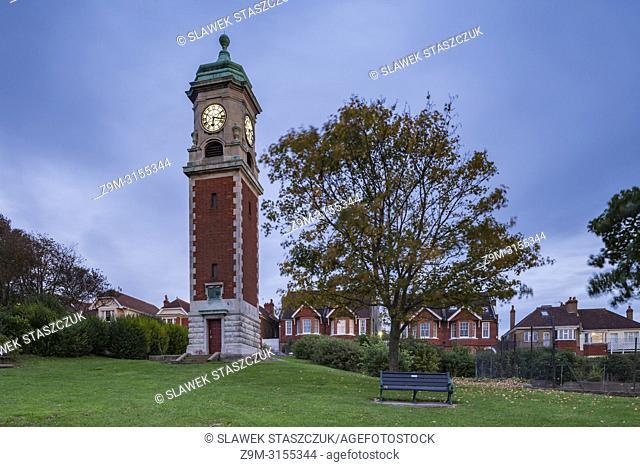 Evening in Queen's Park, Brighton, East Sussex, England