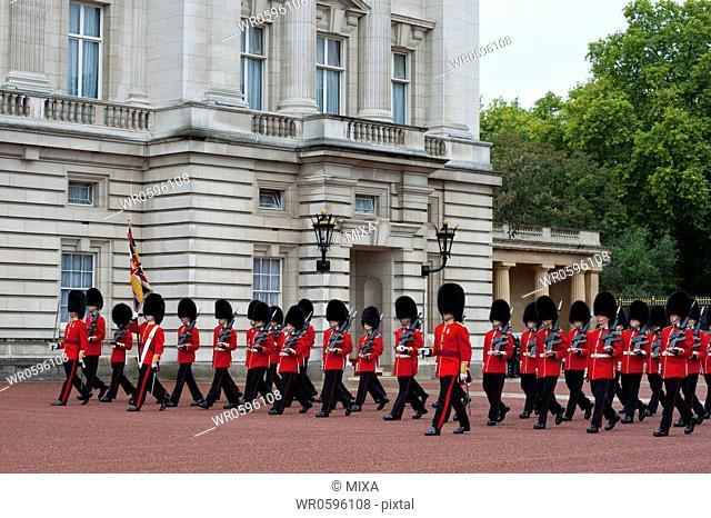 Changing the Guard at Buckingham Palace, London, England, United Kingdom
