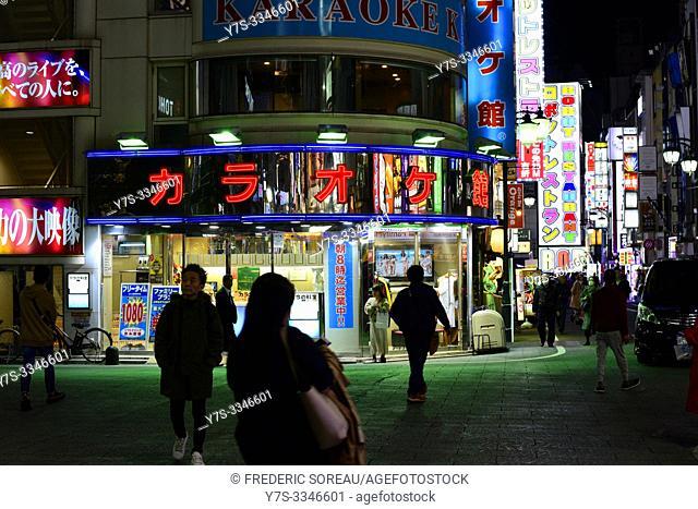 Shinjuku district at night, Tokyo, Honshu island, Japan, Asia