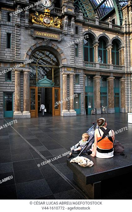 Central Station, Antwerp. Flanders, Belgium