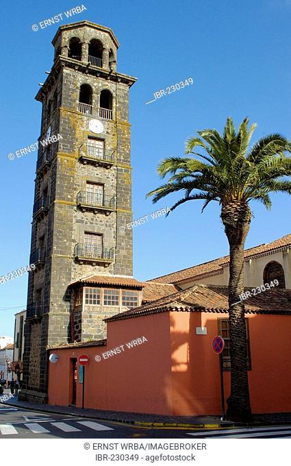 Church tower of Nuestra Senora de la Concepcion, La Lagauna, Tenerife, Canary Islands, Spain