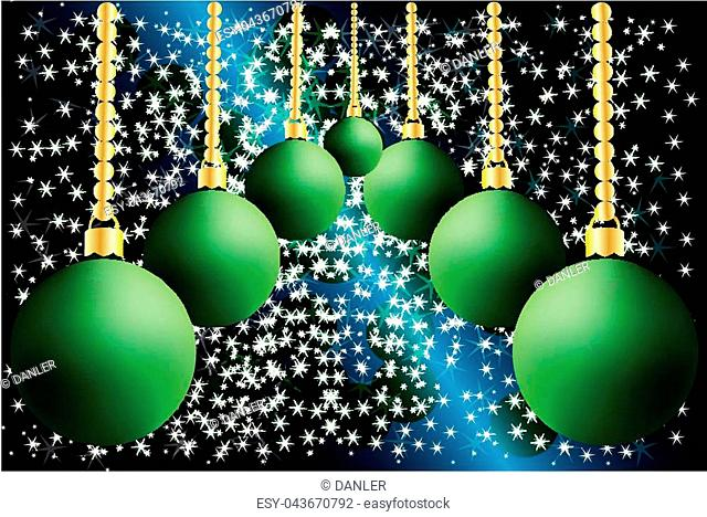 Christmas, Xmas, Christmas day, Christmas decorations, Christmas Colorful Background with a of baubles and stars