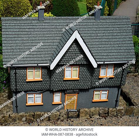 Village primary school at Bekonscot in Beaconsfield, Buckinghamshire, England, the oldest original model village in the world