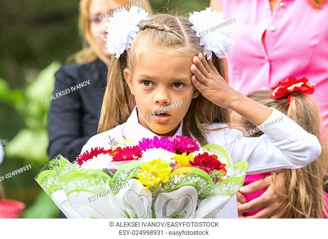 In first-grade headache before going to school the first of September