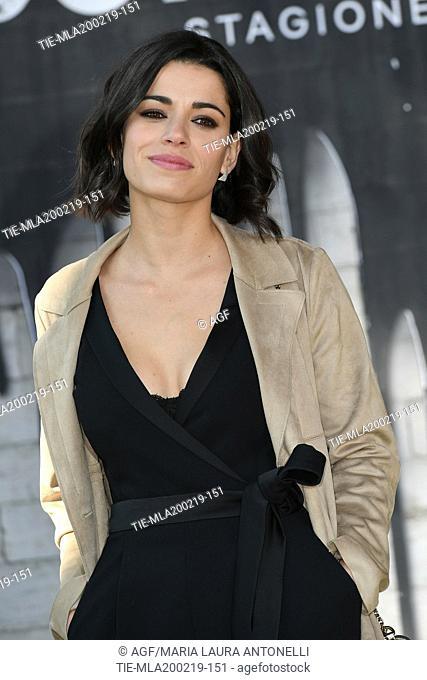 Rosa Diletta Rossi during photocall of the second season of Italian fiction 'Suburra', Rome 20-02-2019