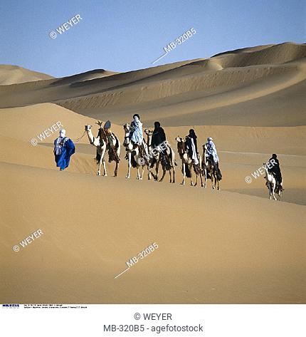 Libya, Sahara, Caravan, Pastoral tribe, Imuschag
