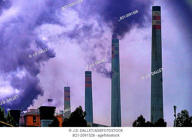 Industry at Aviles, Asturias, Spain