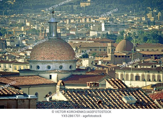 Florence rooftops. View from Bardini Gardens