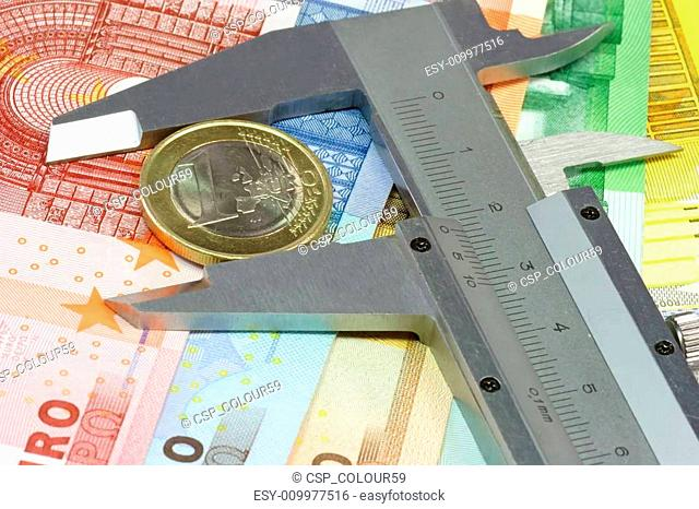 Caliber with one euro