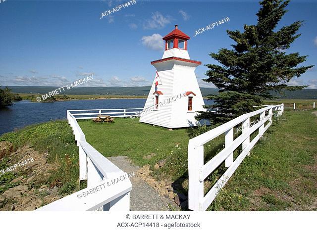 Lighthouse, Shipyard Park, Shepody, New Brunswick, Canada