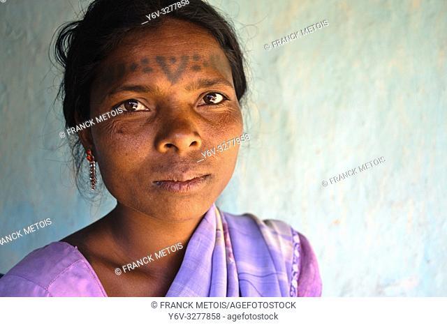Woman from the Baïga tribe ( Madhya pradesh, India)