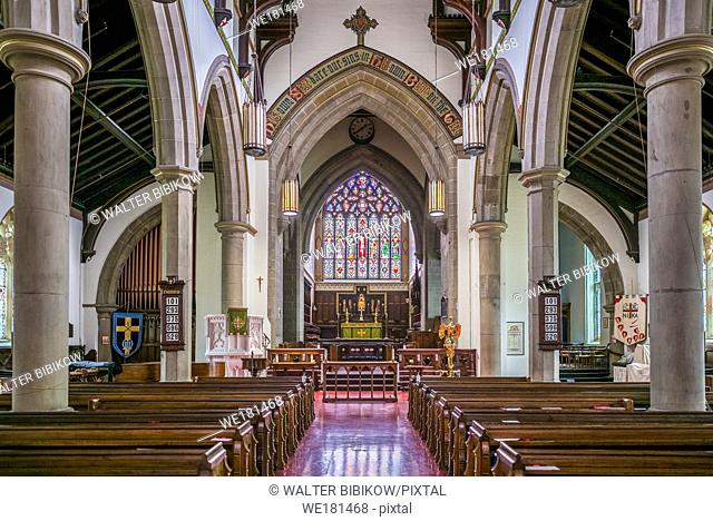 Canada, New Brunswick, Central New Brunswick, Fredericton, Christ Church Cathedral, interior