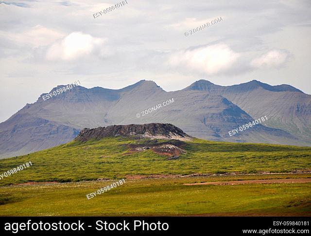 Ringwallkrater, Eldborg , Island, berg, vulkan, krater, vulkankrater, landschaft, natur, geologie, vulkanismus, westküste