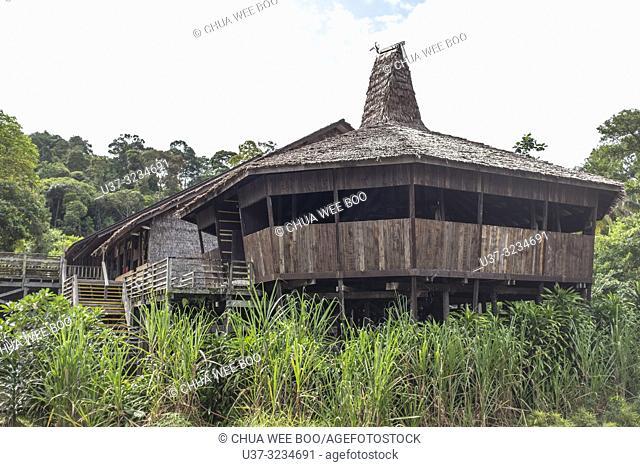 Rumah Iban at Sarawak Cultural Village, Damai, Malaysia