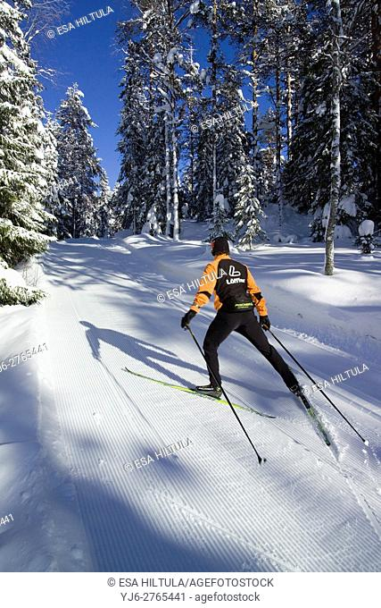 cross country skiing, Finland Europe