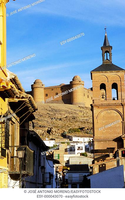 La Calahorra Renaissance castle seen from the town. Granada province, Andalusia, Spain