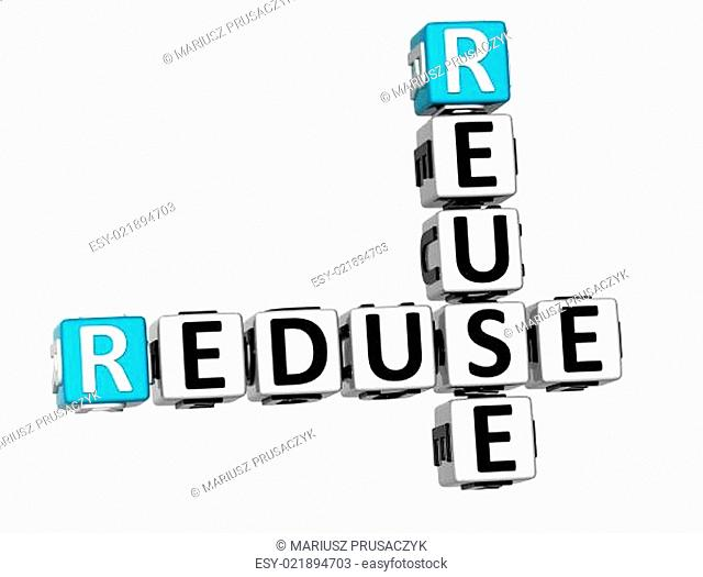 3D Reduse Reuse Crossword